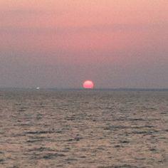 Fire Island summer solstice sunset