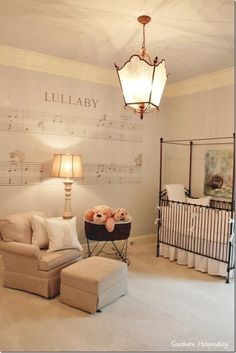 I love this wall decal from Restoration Hardware baby & Child. Such a  pretty wall.  I am not sure they still have this.