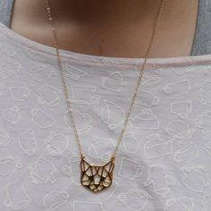 Glorikami 摺紙貓咪黃銅項鍊