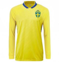 ca2795904 2018 World Cup LS Jersey Sweden Home Replica Yellow Shirt 2018 World Cup LS Jersey  Sweden Home Replica Yellow Shirt