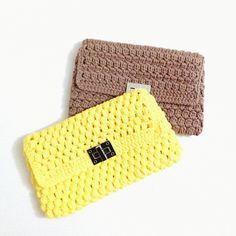 Crochet bag trapillo ganchillo purses bolso clutch