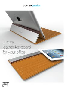 LUXURY LEATHER BLUETOOTH KEYBOARD by Anton Ruckman, via Behance