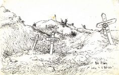 Drawing by Henri Antoine, WW1 Western Front. Europeana 1914–1918, CC BY-SA