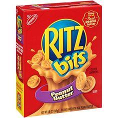 Ritz Bits Cracker Sandwiches with Peanut Butter - Peanut Butter Crackers, Peanut Butter Sandwich, Ritz Crackers, Animal Crackers, Ritz Bits, 17 Kpop, Bite Size Snacks, Sandwiches, Cauliflower Cheese