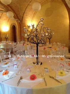 © We Do Weddings by A&J All rights reserved A close up photo of the table set up.