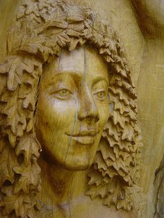 Tree Sculpture- This just immediately caught my eye and reminds me of some of the faces we have at my house.