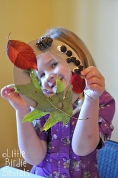 "Take a walk this fall with your child and gather items that have fallen from trees and plants to create a ""fall walk wreath."""