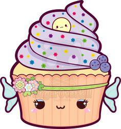 Kawaii Fairy Cupcake by mAi2x-chan.deviantart.com on @deviantART