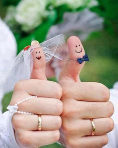 Bride  Groom Thumbs