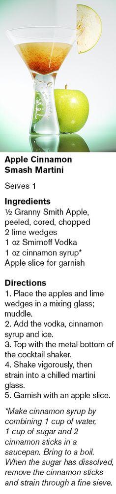 Apple Cinnamon Smash Martini