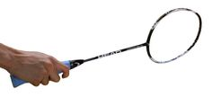 Forehand Badminton Grip from the back