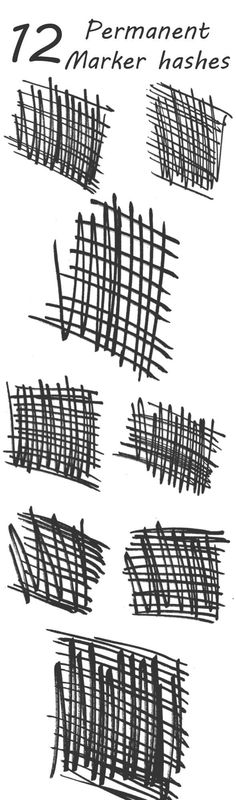 Buy 12 Permeant Marker Hashes by rocketmagnet on GraphicRiver. This is a permanent mark hashes brush set, which includes 12 unique brushes you can use for both print or digital bas. Best Photoshop Actions, Creative Photoshop, Photoshop Brushes, Adobe Photoshop, Photoshop Ideas, Black And White Hallway, Black And White Painting, Painting Fabric Furniture, Painting Quotes