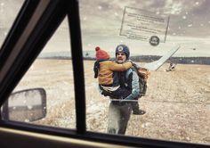 UNHCR: Hang glider