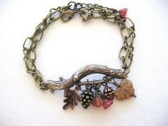 Branch BraceletPine Cone BraceletLeaf by CharmedValley on Etsy, $25.00