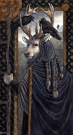 M.Spencer Illustration | One-Eyed A depiction of the Germanic diety Odin...