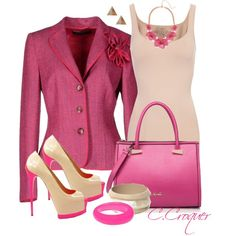 """Let's Think Pink"" by ccroquer on Polyvore"