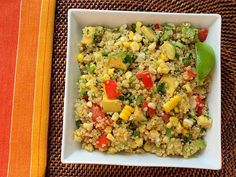quinoa-salad. Used green onions, no jalapeno or scallions. Double for meal.