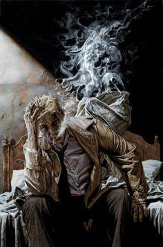 Y sube el humo como que bailando   y yo ideando vuelvo y fumo   y pienso en futuro...(8)