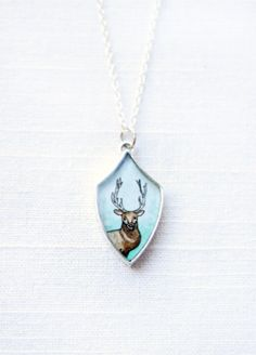 Stag pendant necklace