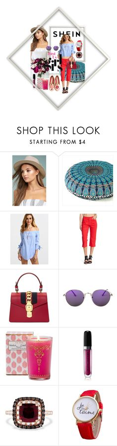 """""""just girl"""" by anelia-georgieva ❤ liked on Polyvore featuring LULUS, NYDJ, Gucci, Market Street Candles, Marc Jacobs and Effy Jewelry"""