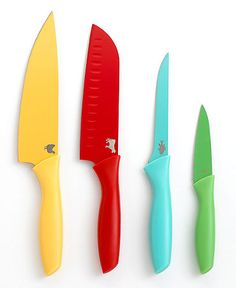 Martha Stewart Collection Colored Coded Cutlery, Set of 4