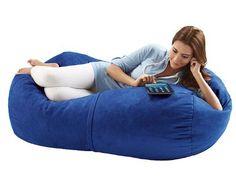 Merveilleux Jaxx Bean Bags Sofa Saxx Bean Bag Lounger, 4 Feet, Blueberry Micro Suede