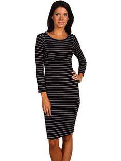 BCBGMAXAZRIA Briza 3/4 Sleeve Boatneck Dress