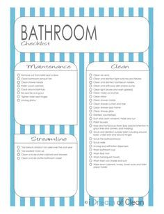 Deep Cleaning Checklist Free Printable  Deep Cleaning Checklist
