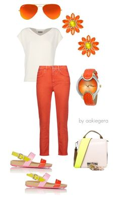 """Sun in your look"" by aakiegera on Polyvore featuring мода, Alberto Biani, Fendi, Kenzo, Acne Studios, Kate Spade, Ray-Ban и Salvatore Ferragamo"