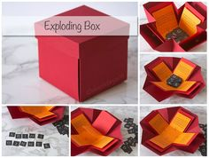Exploding Box: Open the lid and see the surprise, www.deschdanja.ch