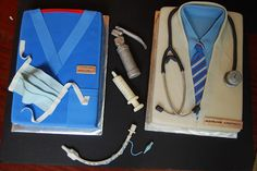Doctor and Surgeon Cakes. Love the Catheter. Meh