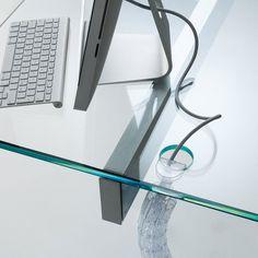 Air Glass Desk by Gallotti & Radice - Klarity