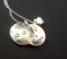 L O C K E T - Secret Message On the Inside - Sterling Silver Hand Stamped Jewelry