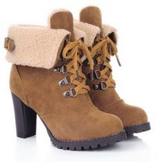 SHARE & Get it FREE   Trendy Women's High Heel Boots With Chunky Heel and Suede DesignFor Fashion Lovers only:80,000+ Items • New Arrivals Daily • Affordable Casual to Chic for Every Occasion Join Sammydress: Get YOUR $50 NOW!
