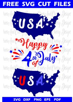 Happy 4 Of July, Fourth Of July, Cricut Explore Air, Free Svg Cut Files, July Crafts, Silhouette Machine, Diy Arts And Crafts, You Are Awesome, Svg Cuts