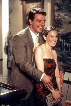 Their love: Aidan and Carrie eventually become engaged, but she feels trapped in her relationship. Eventually, she weds her on-and-off longtime love, Mr. Big, when the show is made into a movie. They are pictured in a still from 1999