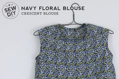 DIY Navy Floral Blouse — Sew DIY