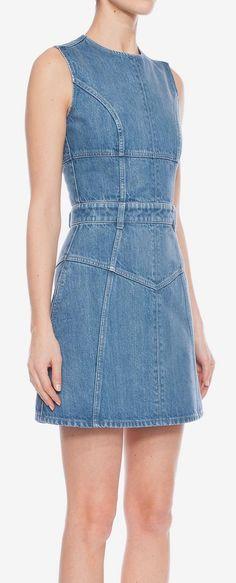 Denim Mini Dress Alexander McQueen