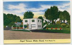 Royal Terrace Motor Court Front Royal Virginia chrome postcard