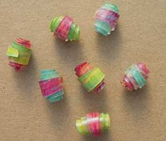 PolyShrink Techniques Gallery/ Rolled Beads Pg. 2 - Variations .... DIY with lots of versions! #ShrinkPlastic