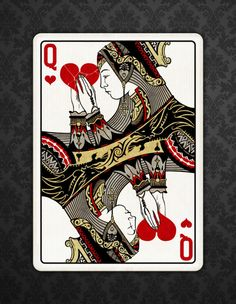 Requiem Team is raising funds for Playing Cards - Bicycle® branded on Kickstarter! Custom Designed Playing Cards, Poker Size - Bicycle® Branded printed in the USA by USPCC. Cool Playing Cards, Custom Playing Cards, Vintage Playing Cards, Queen Of Hearts Card, Queen Of Hearts Tattoo, King Of India, Play Your Cards Right, Pin Up Tattoos, Tatoos