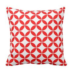 Abstract pattern - red and white. throw pillow - Xmas ChristmasEve Christmas Eve Christmas merry xmas family kids gifts holidays Santa