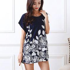 2017 T Shirt Dress Plus Size Women cartoon Mouse Printing Long T shirt short sleeve Loose Casual TEES Sweet Tops tunic 4xL 5XL