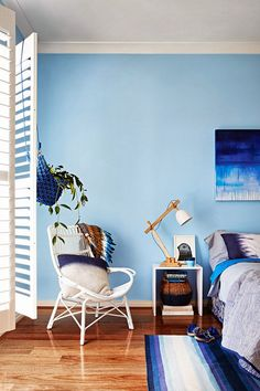 need more blankies! also, gorgeous wall color | Inside Out Magazine - April Issue