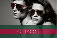 GUCCI looks good in red and green at Glassesspot.com