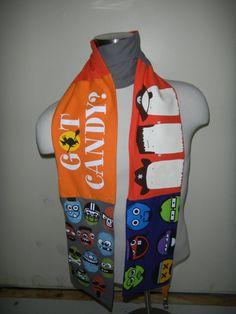 T-ShirtScarf: Trick or Treat Halloween Scarf OOAK Halloween