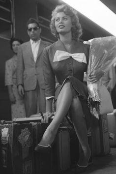 Sophia Loren//Paris 1955