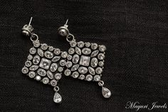 CZ-studded Pure Silver Earrings.