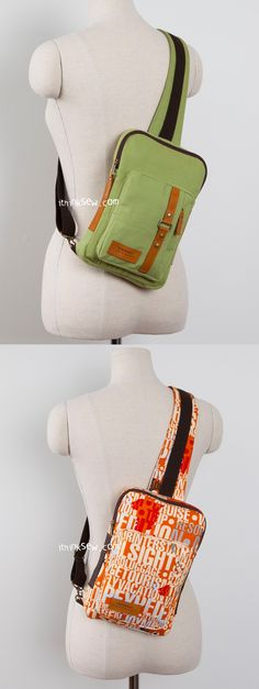Kenzie Cross Body Sling Bag PDF Pattern - ithinksew.com