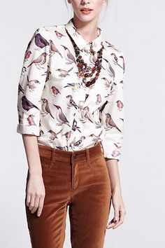 #PixiesEnglishBirdsButtondown #Nadinoo #MadeInKind #Anthropologie